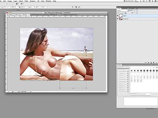 Photoshopped boobs Photoshopping bikini removed