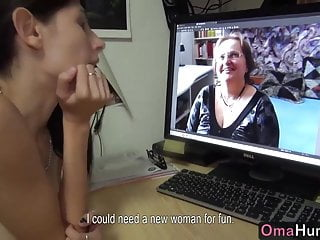 Licking girls boobs - Teen girl licks chubby mature big boobs