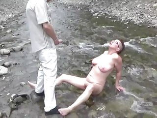 Sluts on the river - On the bed...of the river