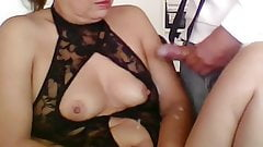 CUMSHOTS ON MY HAIRY MOM, HAIRY PUSSY, LATINA WITH BIG ASS