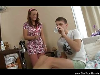 Young russian pussy fucking brother Russian not brother fucks horny stepsis