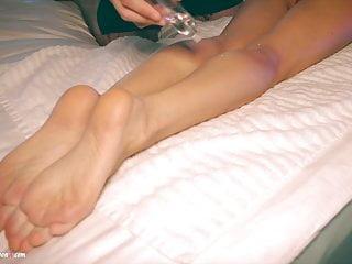 Fast sex tonite Lilu moon hard fast sex after feet massage and huge cumshot
