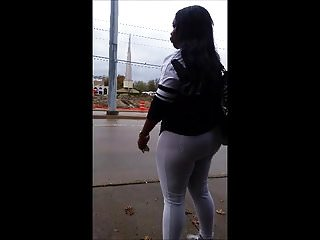 Candid pissing vids Candid vid of thick booty ebony in white pants