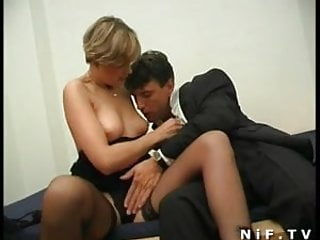 Anal milf in stockings French milf in stockings sodomized