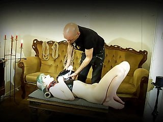 Bondage wrapped Wrap bondaged fucked skinheadgirl submissive short edit