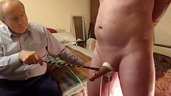 Master gives my cock and balls some punishment