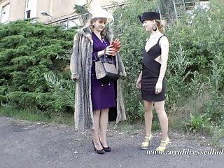 Elegant lady mature Elegant lesbian fur lady gets fucked by a street hooker