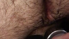 Dick ans fingers in hairy ass big balls