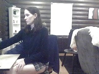 Porn performer kisses and blows Performing for webcam