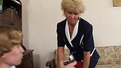 Grandma Effie lets herself be fucked in the ass and in pussy