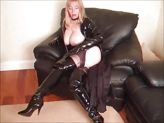 Cum latex boots thigh Thigh high boots