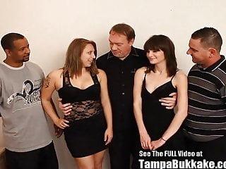 Teen slut orgy Teen school sluts bukkake group fuck party