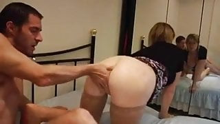 Blond MILF lovely pussy destroyed by a hard cock