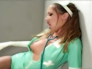 Latex gloves 1000 Sexy nurse anal in latex gloves and stockings