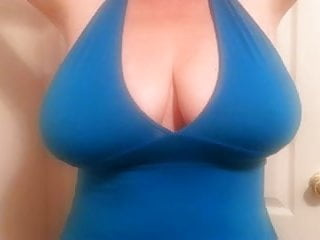 40 g tits - Bbw lateshay in blue 36 g tits halter top strip