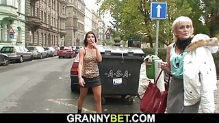 Young guy picks up old prostitute