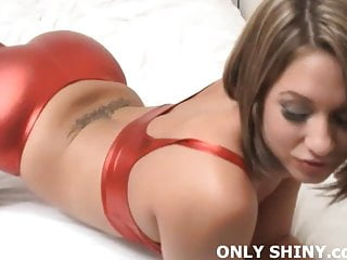 Wow my tits are round - My big tits and round ass really pour out of my pvc panties