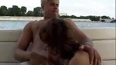 Debauchery of a hot Mom on the boat