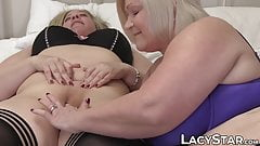 Two UK GILFs hook up and stimulate their wet pussies for fun
