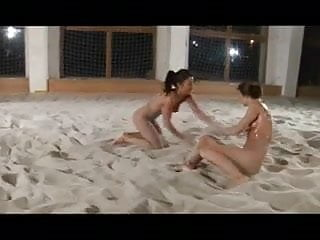 Woman oil wrestling nude - Sexy oil wrestling