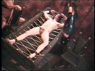 Royal pedic adjustable bed with latex mattress Dude gets restrained to bed by blonde leather dominatrix