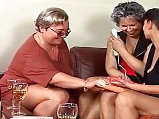 Filthy old fat ugly women fucking 3 ugly women playing