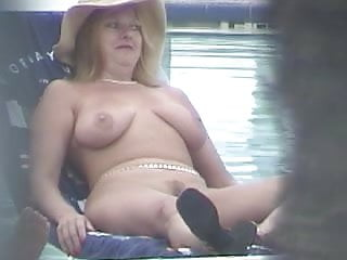 Naked ols ladies Voyeur - blonde lady spied naked by the pool