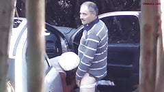 Older daddy caught with prostitute - hidden cam