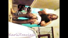 Mexican sissy dances before being Fucked