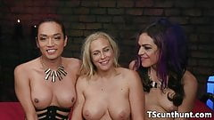 Threeway TS dominating ass and pussy