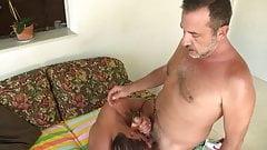 Mature barebacking a lad
