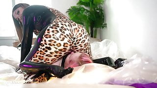 latex rubber facesitting lesbians - hot sex video with Arya Grander