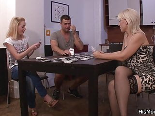 Live strip poker game - Mom fucks teen after poker game