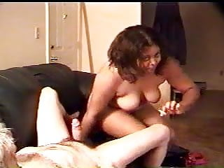 Putting on a condom with a foreskin Bbw puts condom on me, then gets fucked doggy