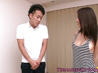 Asian floor screen Japanese teen fucked on the floor