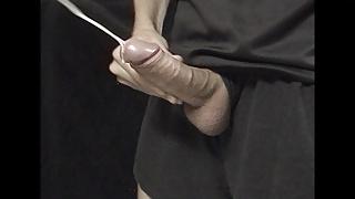 Young hard cock up close
