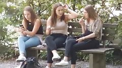 me and my 2 sisters smoking