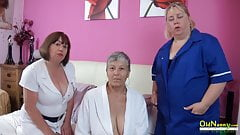 OldNanny Trisha and Lexie and Savana, lesbians in action