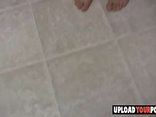Hot chick getting naked video - Busty chick gets naked in the kitchen
