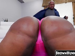 Phat ass black ebony - Phat ass black chick drilled hard by a monster ebony dick