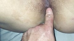 Daddy finally decides its time for her to try anal