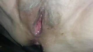 Wet grey haired pussy!
