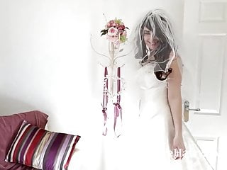 Woman stocking lingerie - Hairy woman melanie kate takes off wedding dress