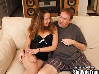 Small titty wife fuck - Hot perky titty wife gagged n fucked with hard dick