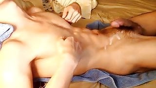 Hot twink cums four times