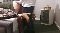 suck Step son fucking pregnant step mom with 11 inch dick anal orgasem