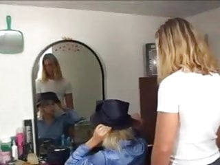 Adult blue satin panty galleries Blonde in blue satin blouse gets fucked