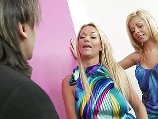 Christine michaels blowjob tube - Christin caresses ashleys big boobs while she gets nailed in a ffm sex