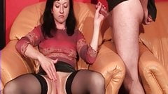 My MILF Exposed how wife in stocking jercking off her