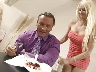 Red lingerie blonde - Stunning blonde in red lingerie fucks her man in the bedroom